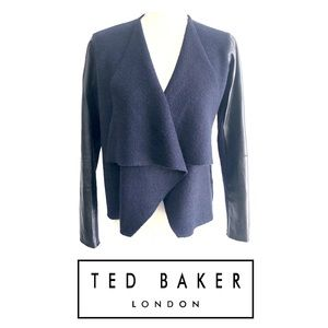 Ted Baker London Wool and Leather Gaeton Jacket